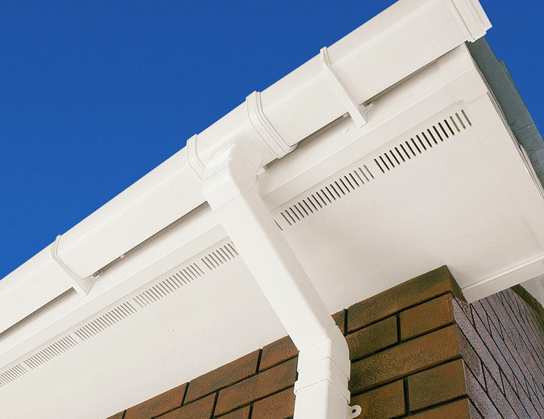 Image Showing New UPVC Soffit Boards - New Soffits are Strong, Durable and Easy to maintain