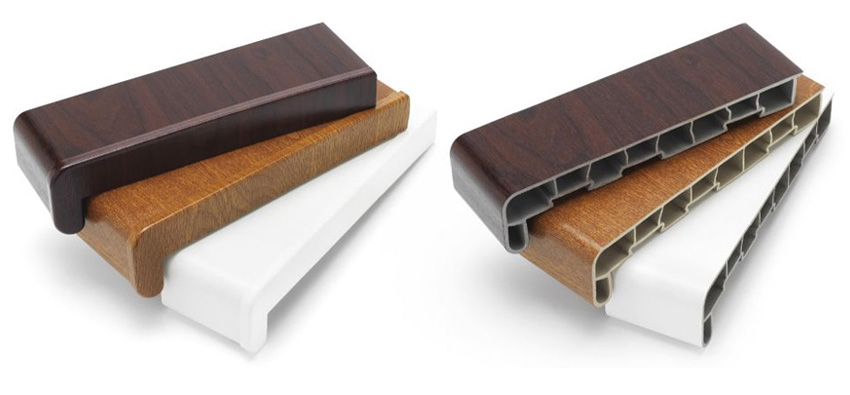 UPVC Plastic Window Boards and Window Sills available in a range of colours and styles